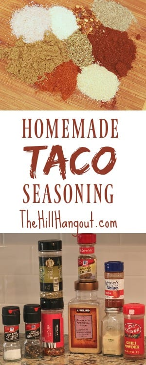 Homemade Taco Seasoning from TheHillHangout.com