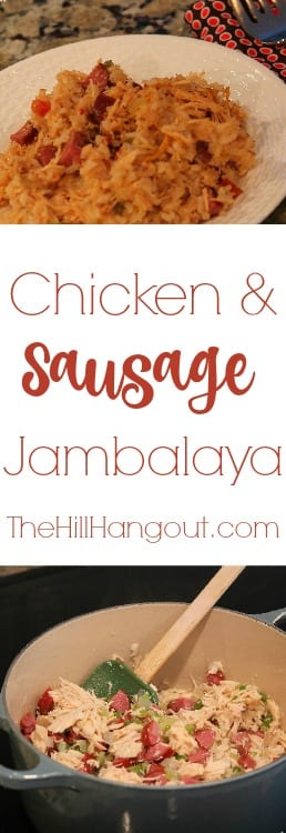Chicken and Sausage Jambalaya from TheHillHangout.com