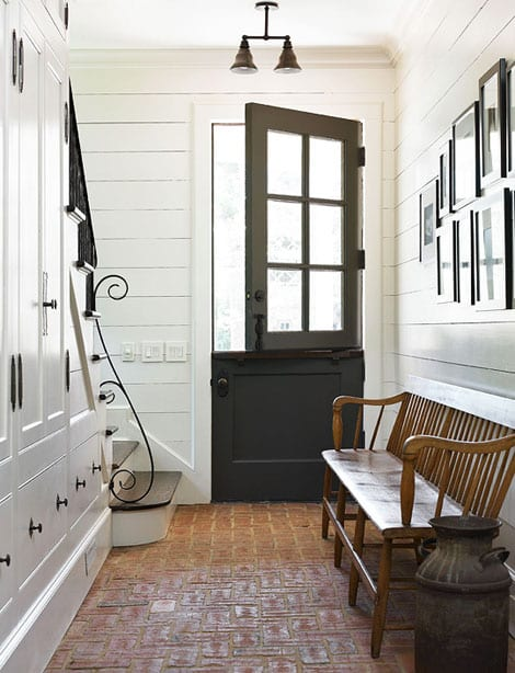 French Farmhouse Foyer : Accent doors