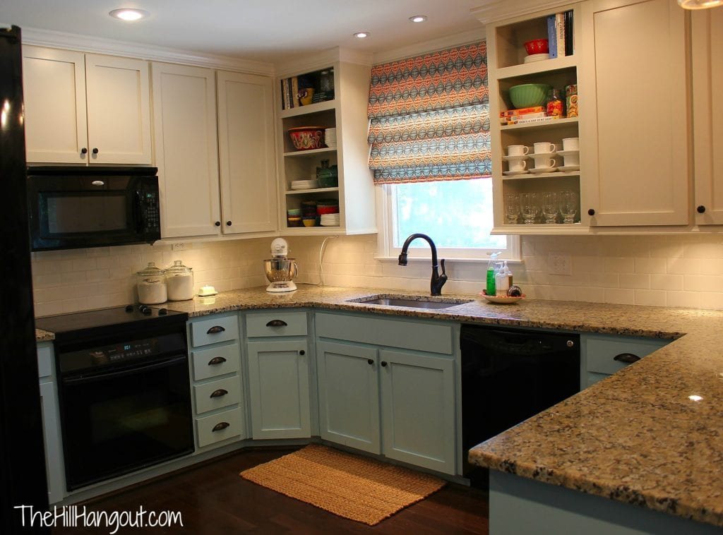 From 1978 to up to date kitchen makeover the hill hangout for Full kitchen cabinets