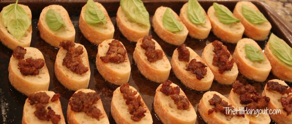 Cheesy Ciabatta Snacks from TheHillHangout.com