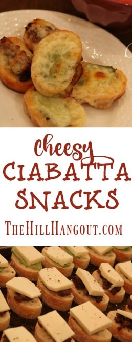 Cheesy Ciabatta Snacks