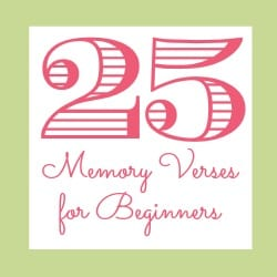 Memory Verses Beginners