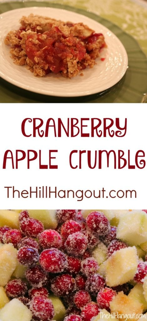 Cranberry Apple Crumble from TheHillHangout.com