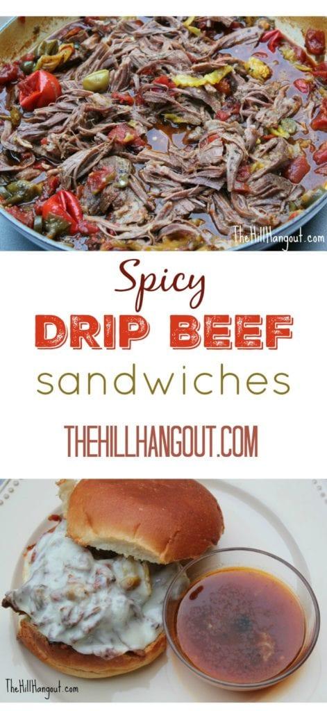 Spicy Drip Beef Sandwiches