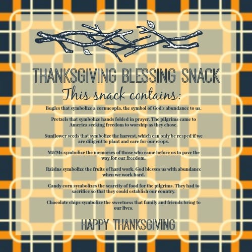 Graphic Thanksgiving Blessing Snack