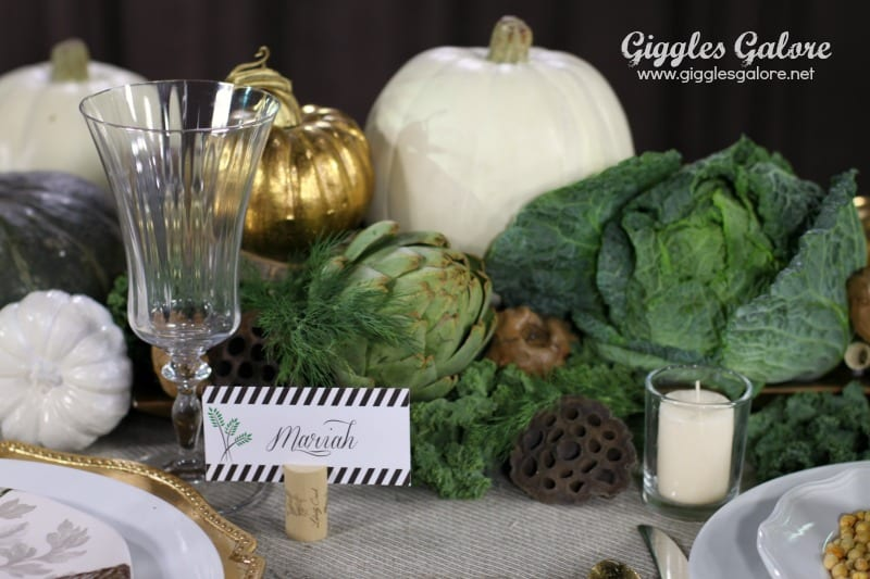 Veggie Inspired Thanksgiving Centerpiece Thanksgiving Tables