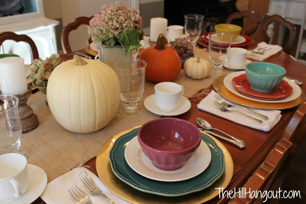 purple Thanksgiving Tables