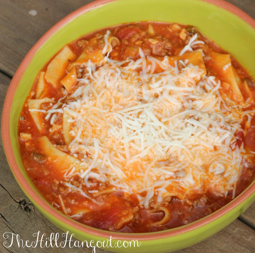 Lasagna Soup from TheHillHangout.com