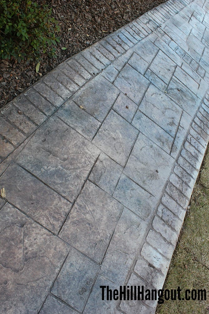 detail sidewalk Birmingham Parade of Homes