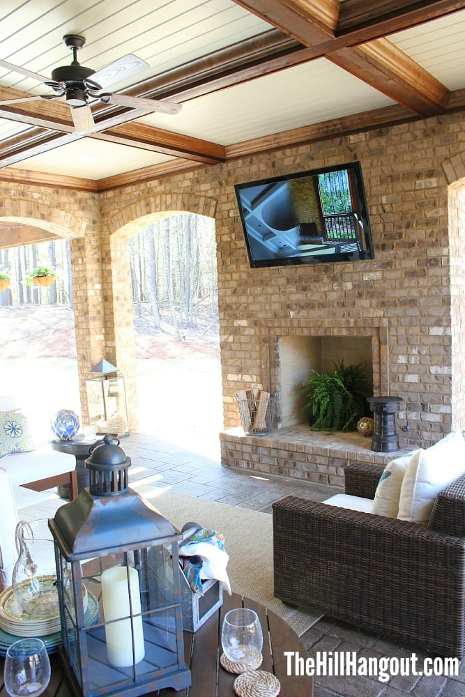 porch fireplace Birmingham Parade of Homes