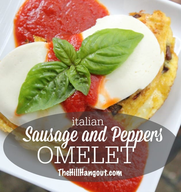 """alt=""""Sausage and Peppers Omelet"""""""