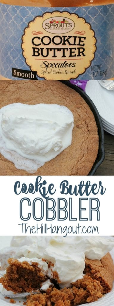 Cookie Butter Cobbler from TheHillHangout.com