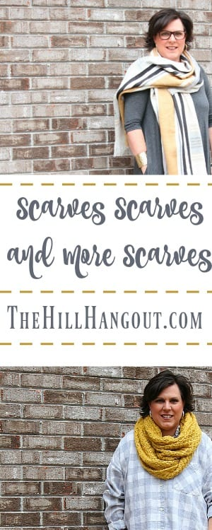 Fashion Over Forty: Scarves Scarves and More Scarves from TheHillHangout.com