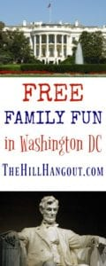 Free Family Fun in Washington DC from TheHillHangout.com