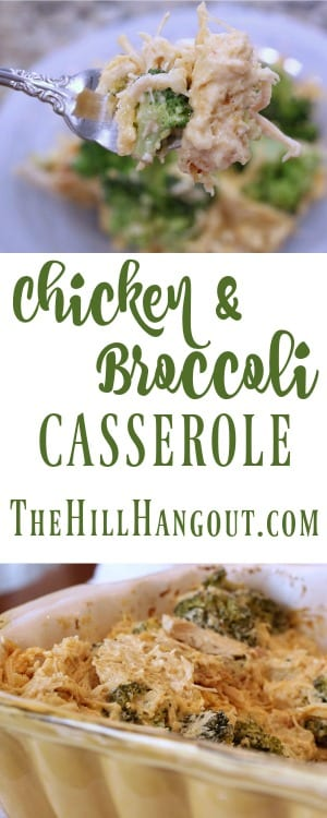 Chicken and Broccoli Casserole from TheHillHangout.com