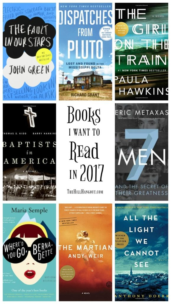 Books I Want to Read in 2017 from TheHillHangout.com