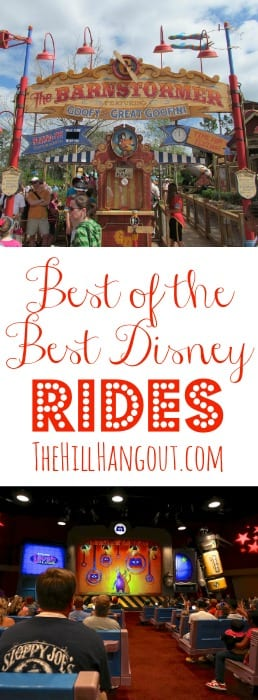 Best of the Best Disney Rides from TheHillHangout.com