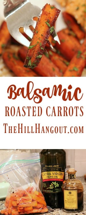 Balsamic Roasted Carrots from TheHillHangout.com