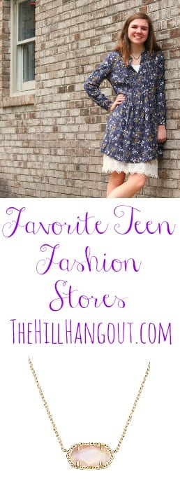 Favorite Teen Fashion Stores by TheHillHangout.com