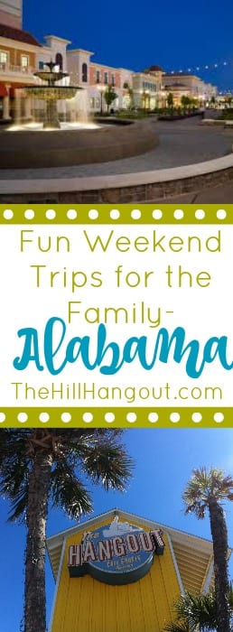 un Weekend Trips for the Family- Alabama from TheHillHangout.com